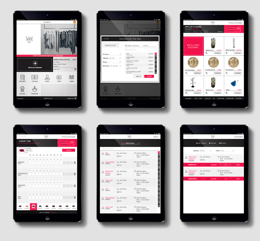 Design d'application shopping